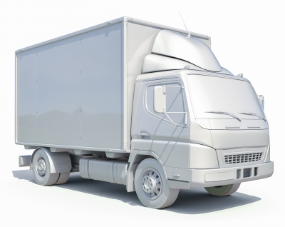 3d White Delivery Truck Icon by Supertrooper